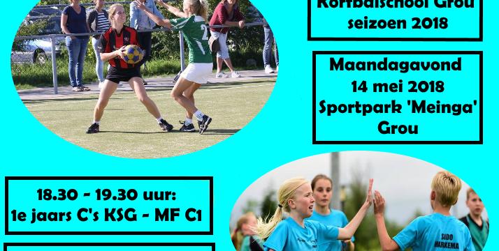 Oefenwedstrijden Korfbalschool Grou seizoen 2018